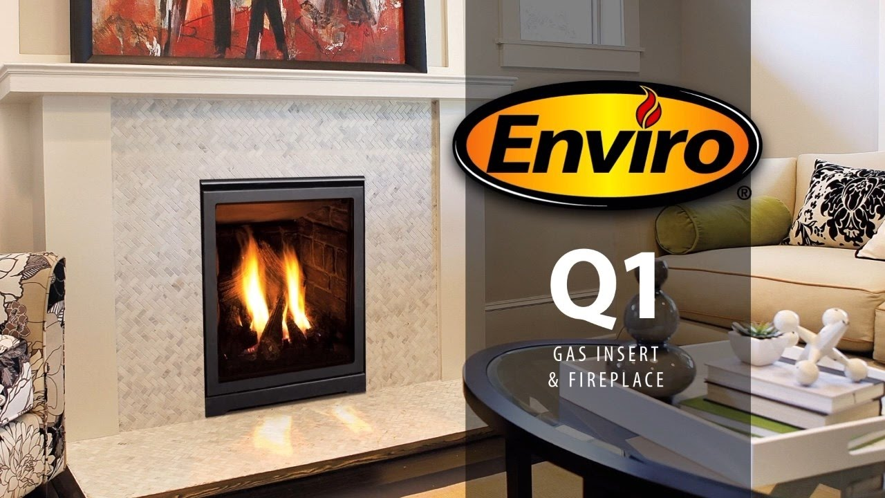 q1 gas fireplace and fireplace insert burn example youtube