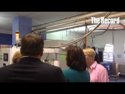 NY's Lt Gov visits Extreme Molding at the Watervliet Arsenal. The biz produces a top baby item on Am