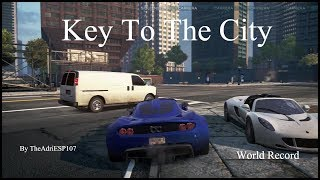 NFS: MW 2012 World Record Keys To The City (0:34.91) 100% Perfect Ps3