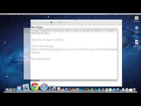 How to make google chrome private on mac