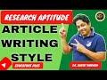 ARTICLE WRITING STYLE लेख लेखन शैली UGC NET