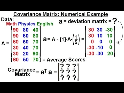 Special Topics - The Kalman Filter (23 of 55) Finding the Covariance Matrix, Numerical Example