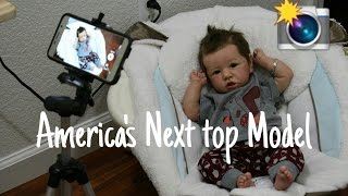 America's Next top Baby Model! Reborn Baby Doll Tries On Clothes! Super Cute Baby! Lifelike Doll