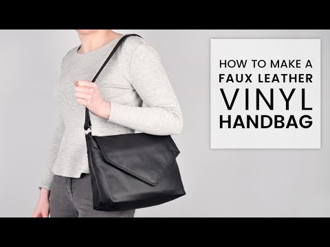 85abdcddf3bb How to Make a Faux Leather Vinyl Handbag - YouTube