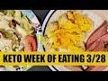Keto Meal Plan   Week of Eating 03/28/18