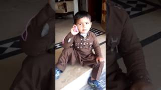 Copy of funny child with funny call