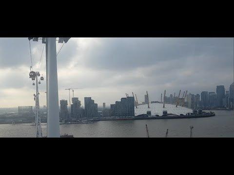 Cable Car in London - Teleferik ile O2 Arenaya Yolculuk