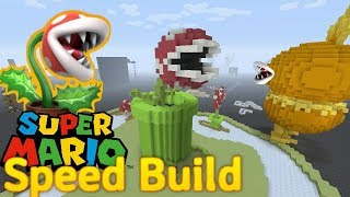 Giant Piranha Plant - Minecraft Speed Bulid! (Super Mario Bros)