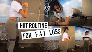 The BEST HIIT routine for FAT LOSS