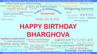Bharghova   Languages Idiomas - Happy Birthday
