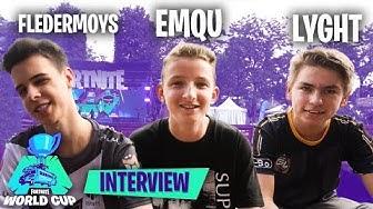 14 JAHRE alt und auf der Fortnite WM! Interview mit Fledermoys, Lyght und Emqu aus NEW YORK!