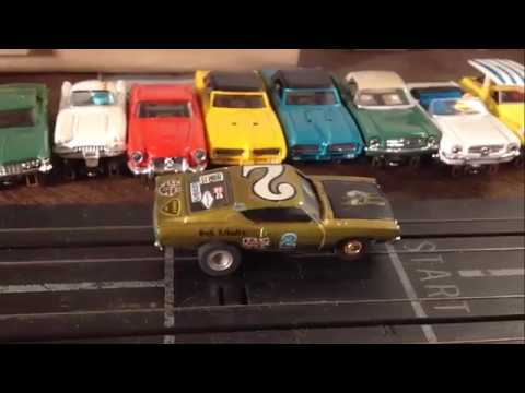 Rare Aurora Slot Car T-Jet Green Grand Torino Restoration