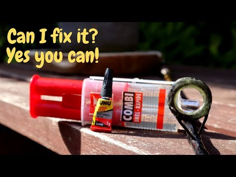 Easiest Way To Fix Your Broken Fishing Rod Guide (without Replacing It)