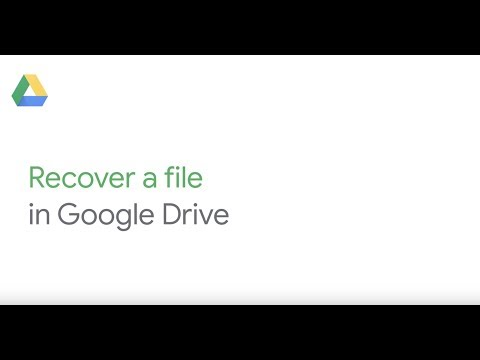 Recover a file in Google Drive