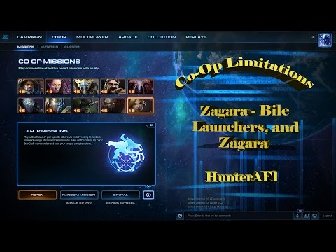 StarCraft 2 Co-Op Brutal Limitations Zagara Only Zagara and Bile Launchers