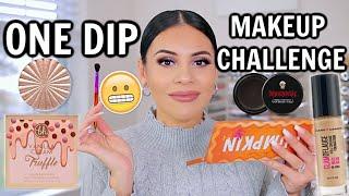 ONE DIP MAKEUP CHALLENGE...OMG
