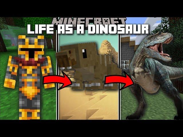 Minecraft LIFE AS A DINOSAUR MOD / MORPH IN TO A DINOSAUR AND EAT FLESH !! Minecraft