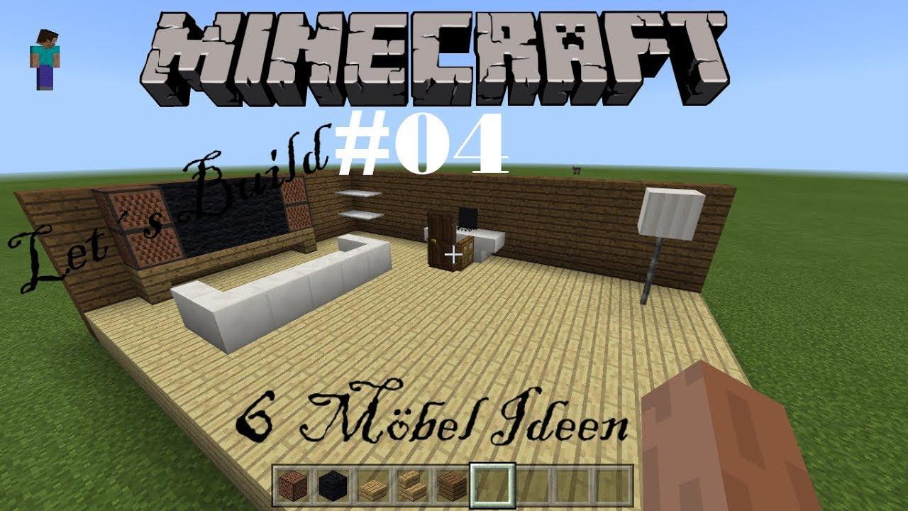 Minecraft Let´s Build #04 | 6 Möbel Ideen | Mitzen LP