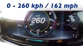 2016 Mercedes-AMG E 63S 4MATIC+ (W213) - 0-100 km/h kph 0-62 mph Tachovideo Acceleration