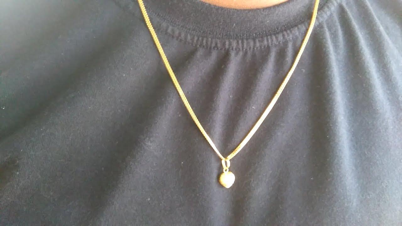 10 grams gold chain model - from GRT jewellers tirupati - YouTube