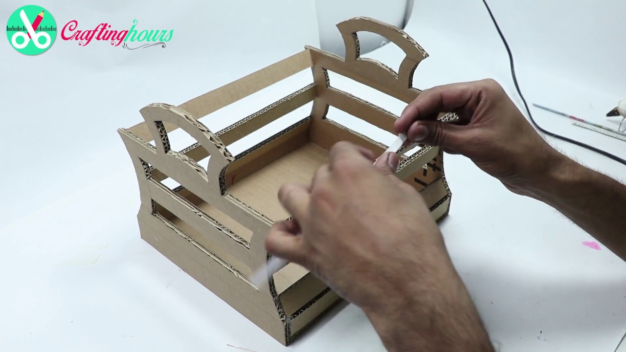 How To Make Storage Basket For Home With Waste Cardboard [Very Easy U0026 Quick]