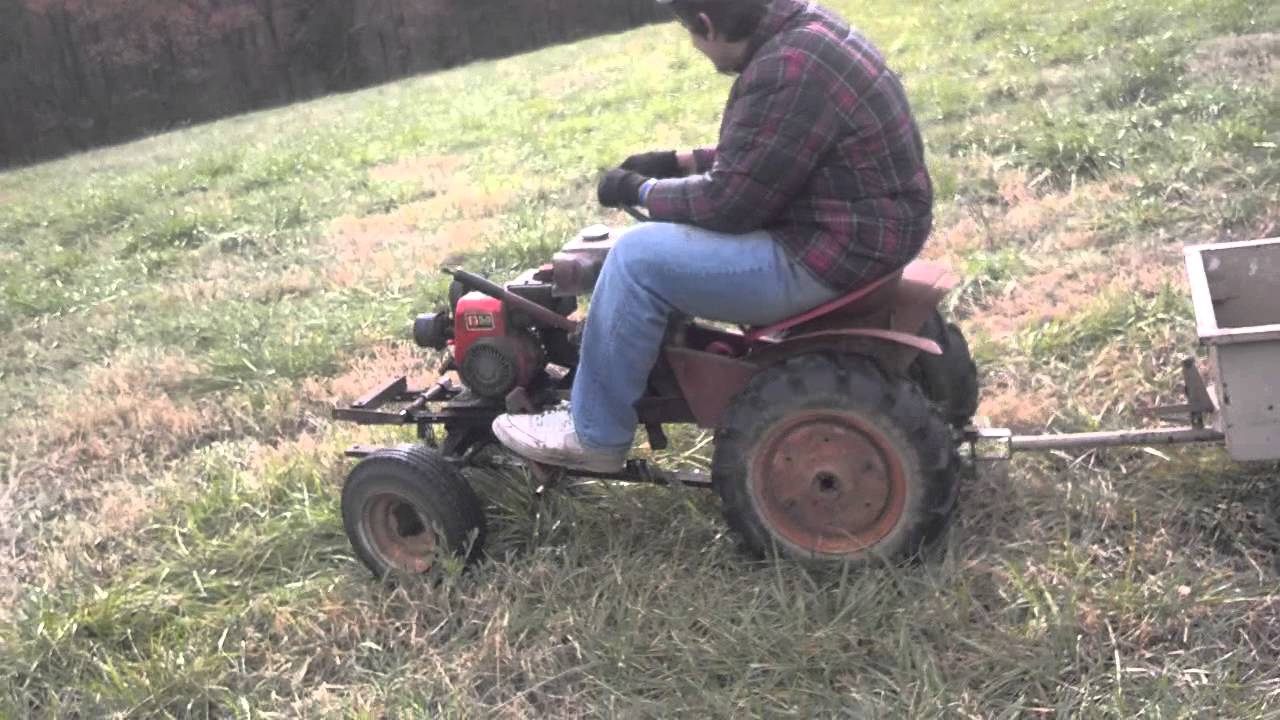 Guy On Tractor : Big man little tractor youtube