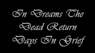 Days in Grief- In Dreams The Dead Return with german lyrics