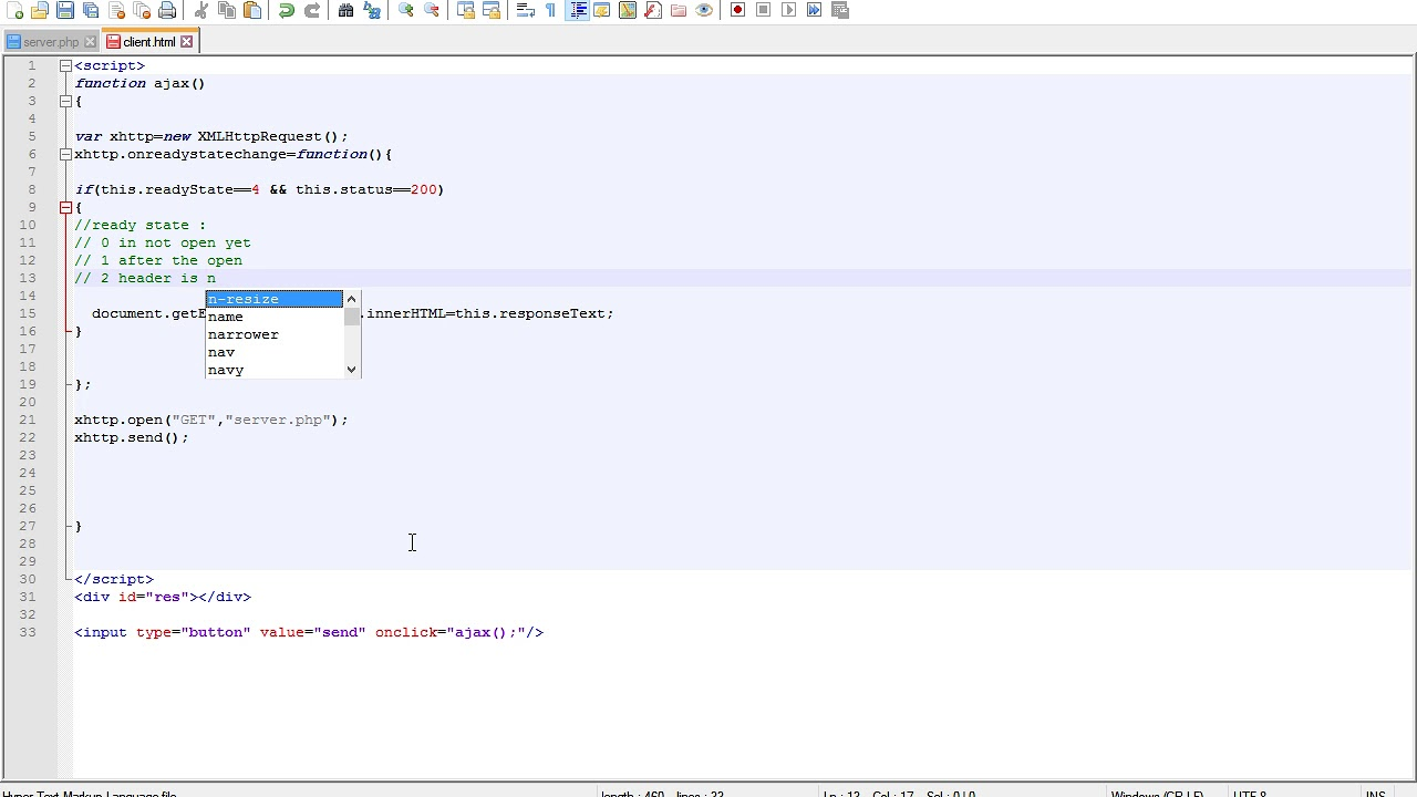 html update