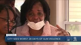 Cincinnati sees worst 28 days of gun violence in years
