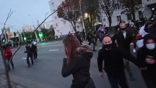 Видео с очень близкого расстояния во время начала разгона в Минске.
