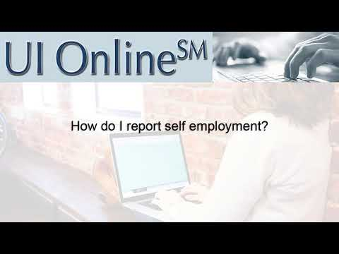 UI Online:  Reporting Self-Employment  and Commissions using UI Online