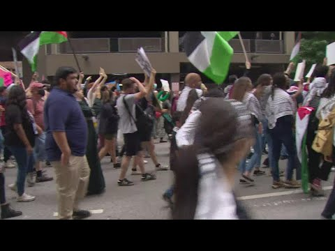 Thousands of Pro-Palestinians marched on the streets of Dallas Sunday afternoon