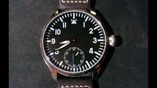 Часы Parnis пилот с механизмом 6498 Партномер WZ0011