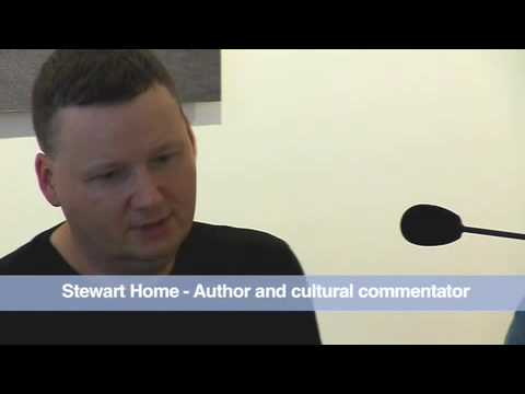 George Robertson, Stewart Home and Andy Roberts discussion at Street Level Photoworks