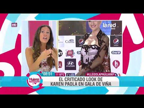 El criticado vestido y peinado de Karen Paola en la Gala de Viña