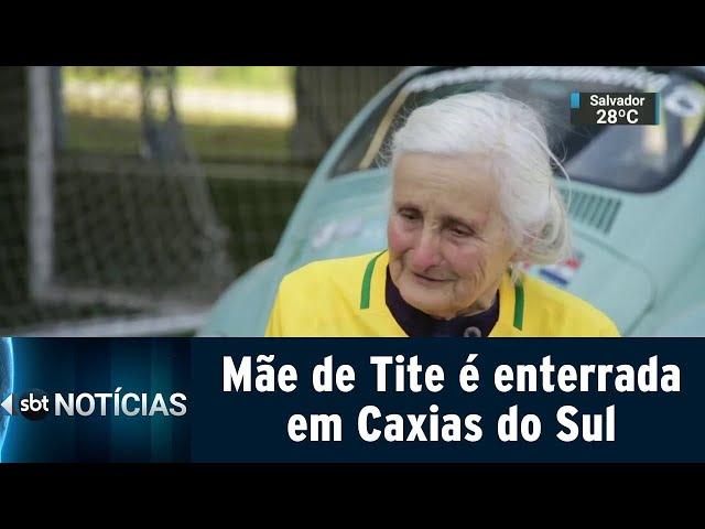 Mãe de Tite é enterrada em Caxias do Sul | SBT Notícias (11/03/19)