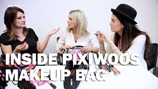 Inside Pixiwoos makeup bag - Linda Hallberg Makeup Tutorials Thumbnail