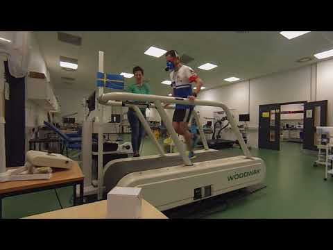 Running VO2 max test at Napier University Sports Sciences