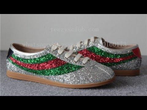 9efd63f4db2 Gucci Falacer glitter sneaker with Web - YouTube