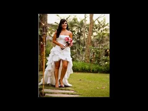 Vestido De Noiva Curto Na Frente E Longo Atrás