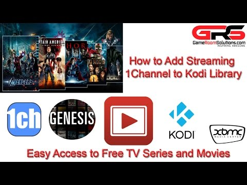 2015 Free TV and Movies with 1Channel XBMC Kodi Library Integration