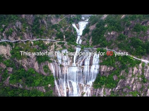 Waterfall Resumes after 60 Years' Disappearance in East China