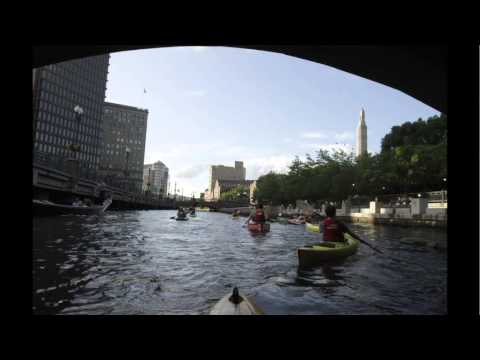 Urban paddling on Providence's Woonasquatucket River