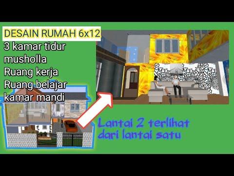 desain dan tutorial rumah 2 lantai 3 kamar tidur