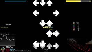 StepMania: A c i - L - G O D - 92.07% A live play
