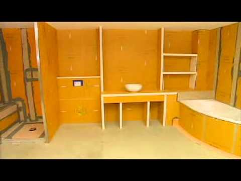 colocaci n schl ter kerdi youtube. Black Bedroom Furniture Sets. Home Design Ideas