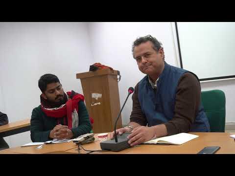 Dr. Vijay Prasad speaks at JNU on the Wars on Syria, Libya, Yemen and Palestine
