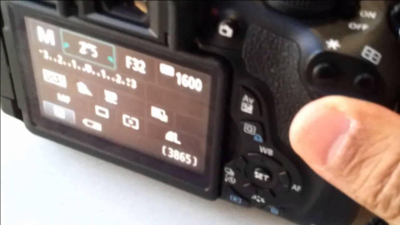 Camara Canon operación en modo manual