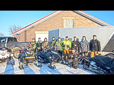 SNOWMOBILING WITH SUBSCRIBERS! (& Cops Pulled Us Over) | SUNDAY FUNDAY!