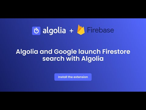Thumbnail Firestore search with Algolia